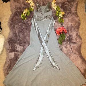 David's Bridal Dresses - David's Bridal Bridesmaid dress Grey